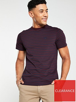 barbour-delamere-stripe-tee-ruby