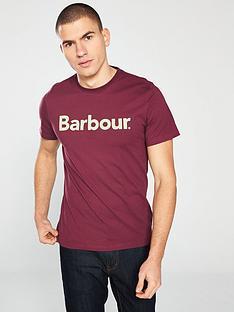 barbour-logo-t-shirt-ruby