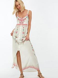 103e798f2d Accessorize Amalfi Printed Embellished Beach Maxi Dress - White