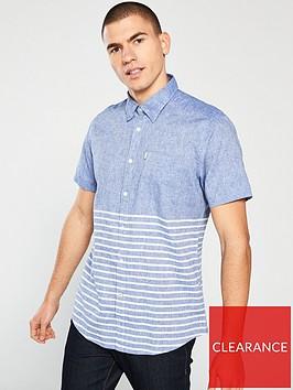 barbour-rowlock-short-sleeved-shirt-blue