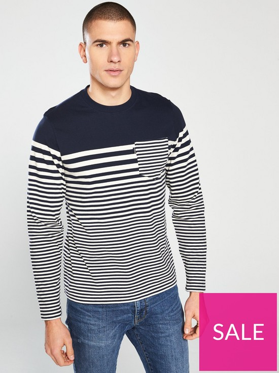9a662f19 Barbour Triton Long Sleeve T-Shirt - Navy | very.co.uk