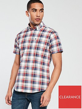 barbour-madras-check-short-sleeved-shirt-redblue