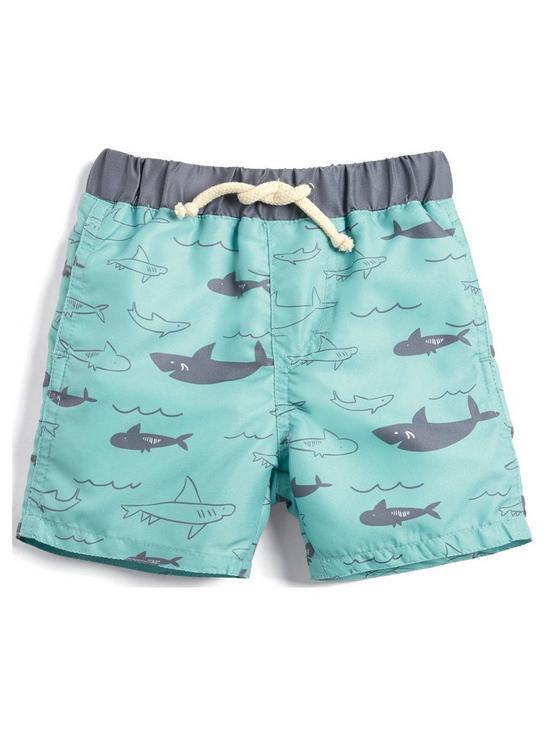 4e950019f Mamas & Papas Baby Boys Shark Swim Shorts - Blue | very.co.uk
