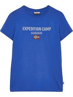 napapijri-boys-sonthe-short-sleeve-expedition-t-shirt-blue