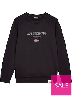 napapijri-boys-bonthe-crew-neck-expedition-sweatshirt-black