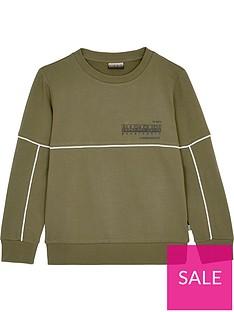 napapijri-boys-crew-neck-sweatshirt-khaki