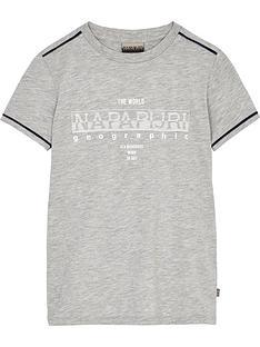 napapijri-boys-seby-short-sleeve-logo-t-shirt-grey