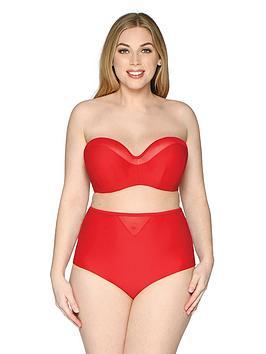 curvy-kate-sheer-class-bandeau-bikini-top-red