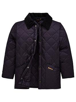 Barbour Boys Classic Liddesdale Quilt Jacket - Navy, Navy, Size Age: 10-11 Years