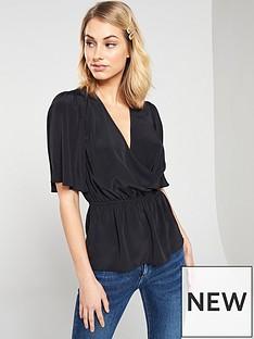 v-by-very-cape-sleeve-top-black