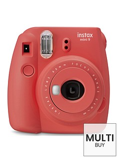 fujifilm-instax-mini-9-instant-camera-with-10-or-30-pack-of-paper--nbsppoppy-red