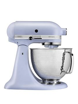 kitchenaid-limited-edition-artisan-48-litre-stand-mixer-in-matte-lavender-with-hammered-steel-bowl