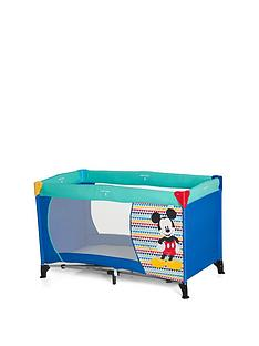 minnie-mouse-hauck-disney-dream-n-play-travel-cot--mickey-geo-blue