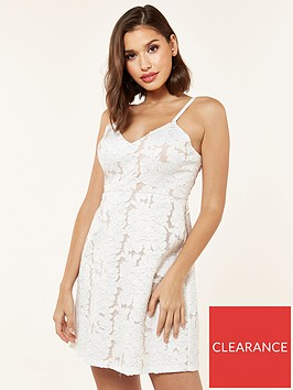 the-girl-code-mini-fit-and-flare-3d-lace-dress-metallic
