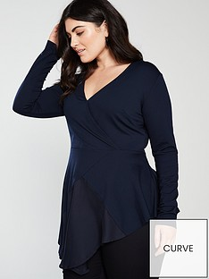 lost-ink-plus-wrap-front-top-navy