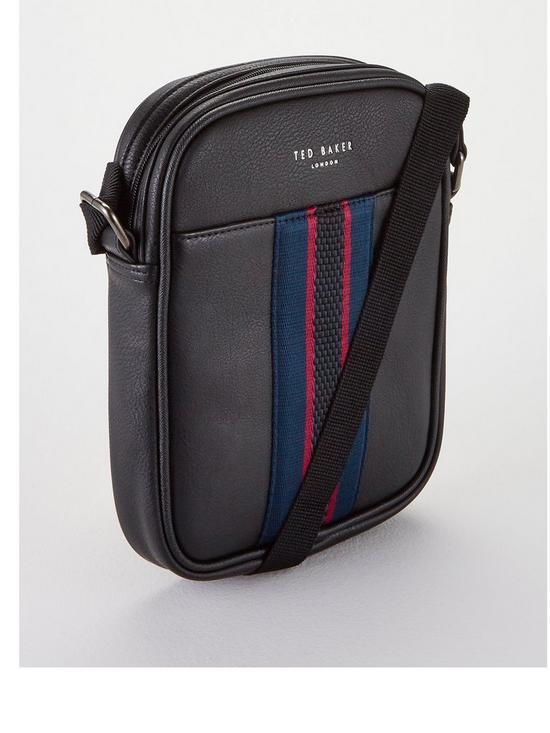 9e0e14bdc7ae Ted Baker Webbing Mini Flight Bag - Black   very.co.uk