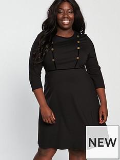 monsoon-curve-marie-short-ponte-dress-black