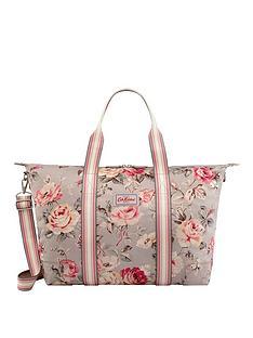 02d6355ef20f Cath Kidston Foldaway Overnight Bag Garden Rose Grey