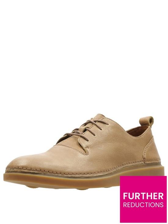 da920539f9c2c Clarks Hale Leather Lace Up Shoe - Tan | very.co.uk