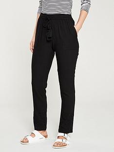 v-by-very-cutwork-linen-trouser-black