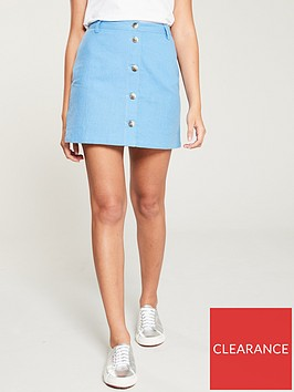 v-by-very-linen-button-through-skirt-soft-blue