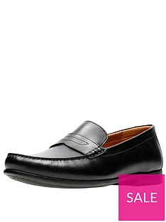 clarks-claude-lane-leather-shoe-black
