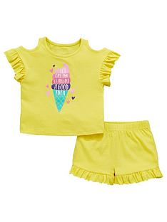 60588c444e Mini V by Very Girls Ice Cream Cold Shoulder Jersey Outfit - Multi