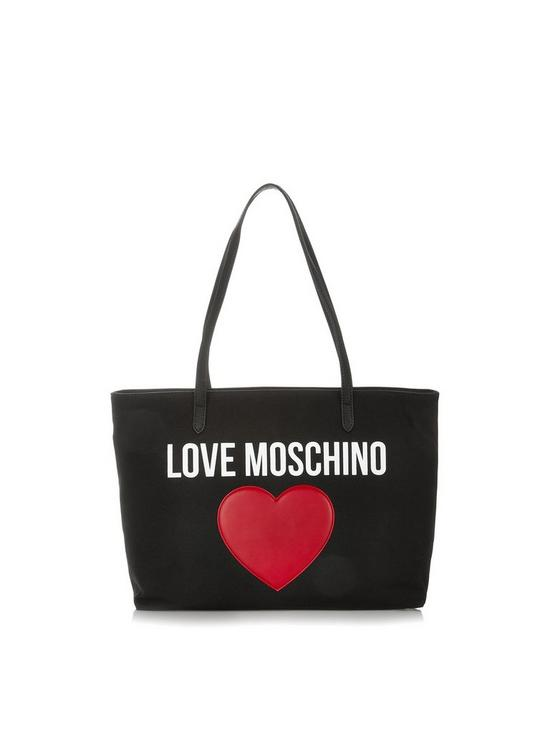 3b11b49af895 LOVE MOSCHINO Large Logo Tote Bag - Black