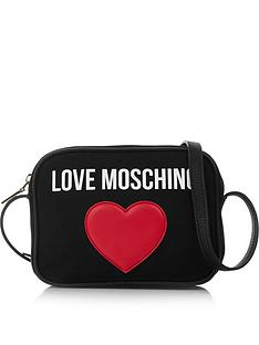 5ff4000c9a LOVE MOSCHINO Classic Canvas Logo Cross-Body Bag - Black