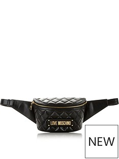 love-moschino-logo-quilted-bum-bag-black