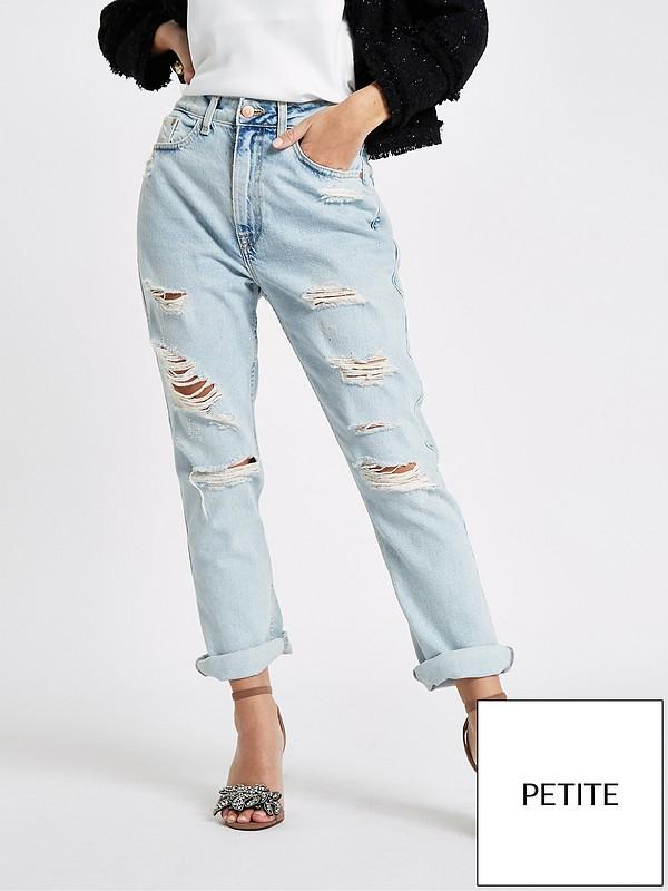 54e67a45cd5483 RI Petite Mom Jeans - Mid Blue | very.co.uk