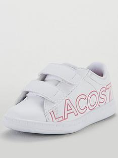 caa74b151 Lacoste Infant Girls Carnaby Evo 219 Strap Trainer