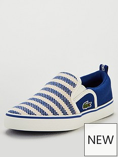 2aed8e41d Lacoste Boys Gazon 119 Slip On Plimsoll