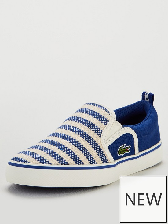 a07915726 Lacoste Boys Gazon 119 Slip On Plimsoll