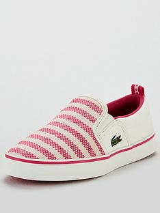 b1d2db3cf Lacoste Girls Gazon 119 Slip On Plimsoll
