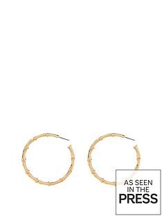 michelle-keegan-bamboo-hoop-earring-goldnbsp