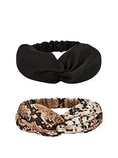 v-by-very-2-pack-snake-black-bandeau-headband