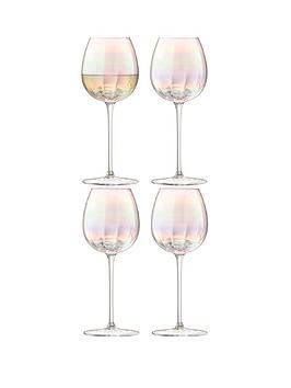 lsa-international-pearlnbsphand-crafted-white-wine-glasses-ndash-set-of-4