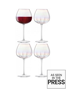 lsa-international-pearlnbsphand-crafted-red-wine-glasses-ndash-set-of-4
