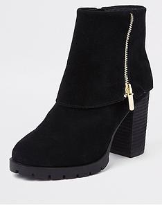 river-island-fold-down-ankle-boots-black