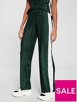 v-by-very-side-stripe-plisse-trouser-green
