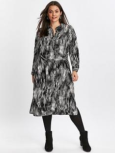 evans-shirt-midi-dress-zebra-stripe