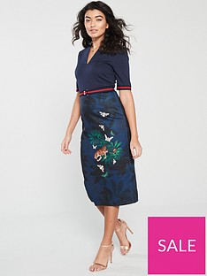 ted-baker-yalila-houdiininbspprint-bodycon-dress-navy