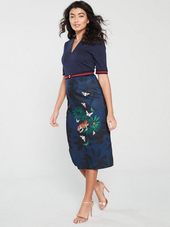 b6ab45424 Ted Baker Yalila Houdiini Print Bodycon Dress - Navy