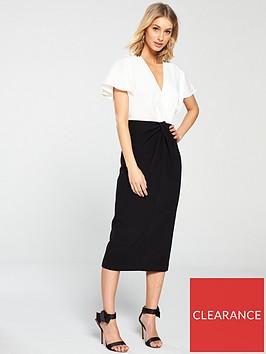 ted-baker-ellame-wrap-over-full-sleeve-bodycon-dress-black