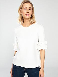 ted-baker-kaylle-ruffled-short-sleeve-top-ivory