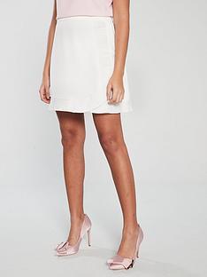 d8f3f8689015ab Ted Baker Avelina Ruffle Wrap Mini Skirt - Ivory