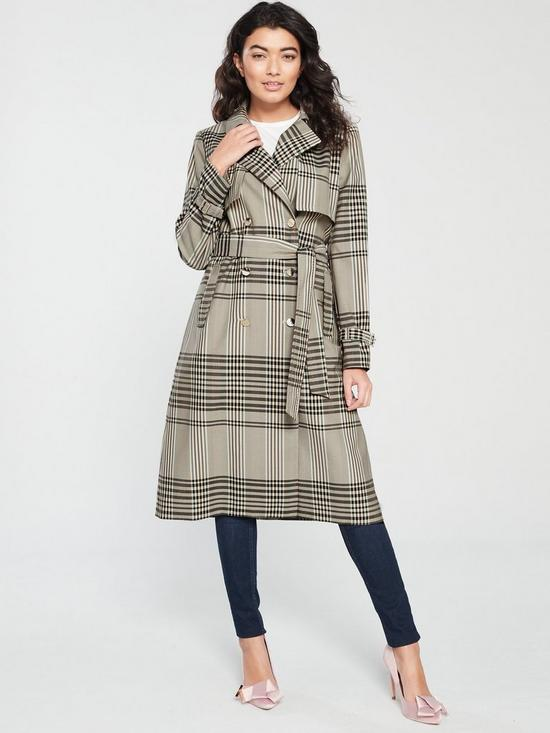 08e32514b922c Ted Baker Ted Baker Cristta Buckle Cuff Trench Coat