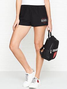 love-moschino-logo-print-elasticated-shorts-black