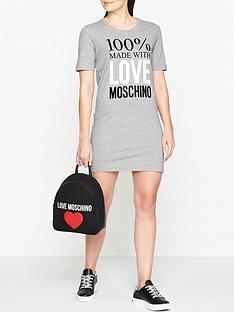 love-moschino-logo-slogan-short-sleeve-t-shirt-dress-grey